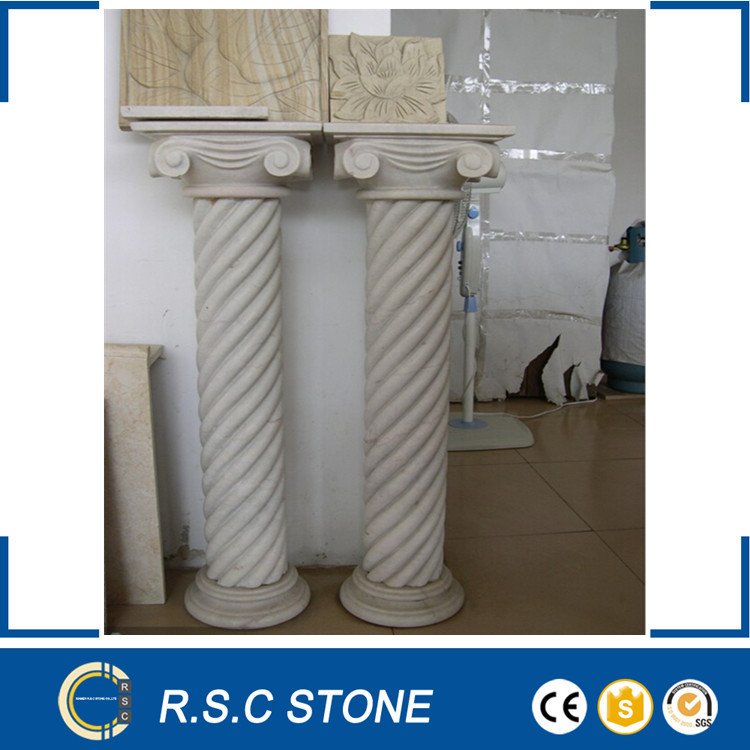 Antique granite , marble stone roman column