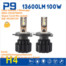 Awesome TOP 1 Bright 13600lm h15 100W 9004 led headlight P9 h7 led pk Osram headlight bulb h11 h1 luxeon 2x 30w 6000lm bulb d3s