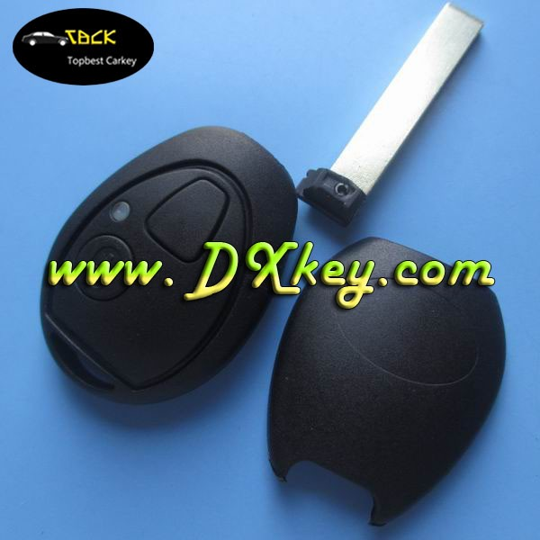 Shock price key covers wholesale without logo with 2 buttons for mini remote key shell mini cooper key