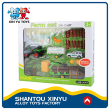 Plastic farm product toys pull back die cast vehicles with high quality