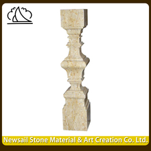 Natural Grey Marble Stone Baluster House Railing Designs