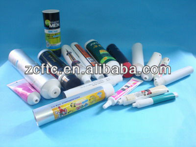30mm, Laminated cosmetic packaging tube with a black cap