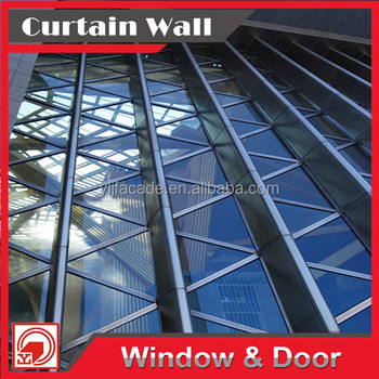 Alli baba com reliable supplier decorative steel glass aluminum curtain wall