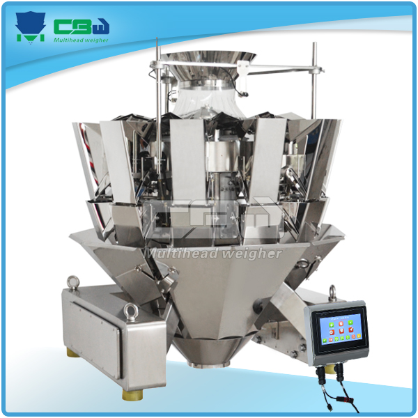 Frozen food,goat beef lamb meat with packing machine multi-head weigher
