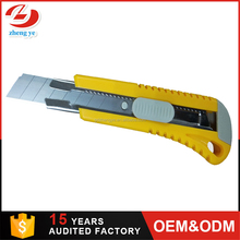 China manufacturer carbon steel snap blade 18mm wholesale heavy duty industrial knife