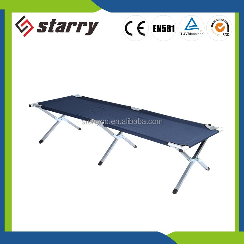 Heavy duty aluminium folding cot