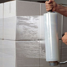 Handle and machine use LLDPE pallet wrapping film/LLDPE stretch film jumbol roll
