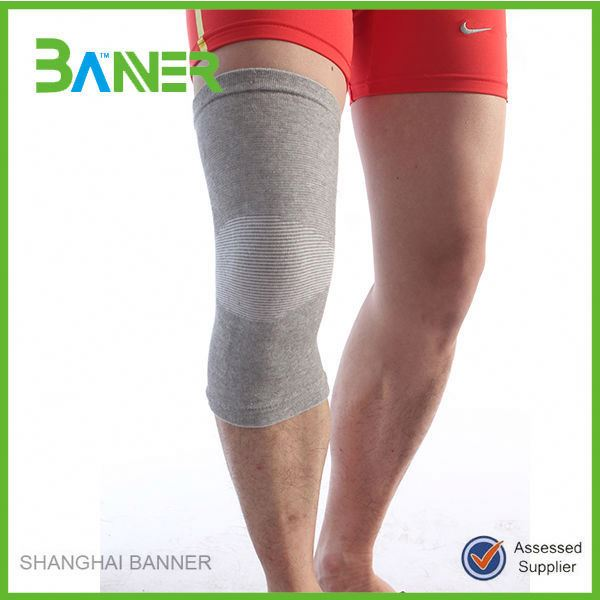 Daily Life Nylon Cotton Spandex Knee Compression Sleeve for basketball
