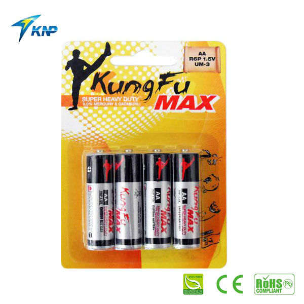 AA zinc carbon battery/batteries R6 UM3 KUNGFU MAX/dry battery manufacturers