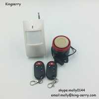 Security loud infrared burglar alarm with two remote
