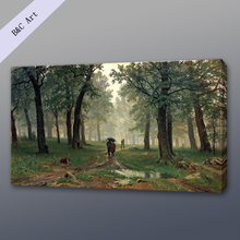 Canvas Art Natural Landscape Rain The Oak Forest Ivan Ivanovich Shishkin Famous Art Paintings with frames