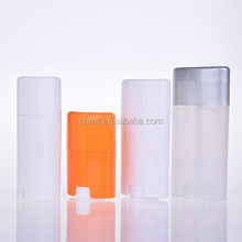 15ml 40ml 50ml 75ml oval shape stick plastic deodorant container for sale