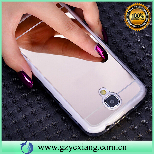 New Offer Silver Mirror Skin Soft Clear Gel Tpu Case For Samsung Galaxy S4