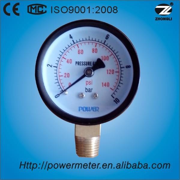 50 mm black steel air pressure measuring devices