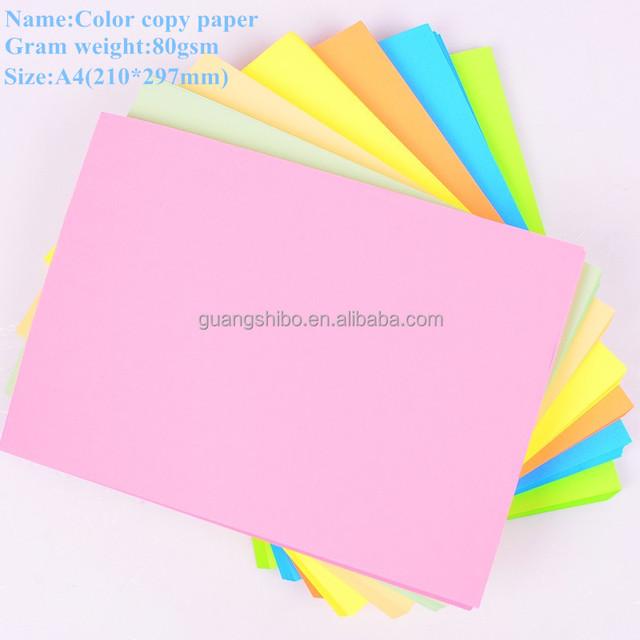 2016 designed colorful inkjet 80g uncoated A4 copy paper
