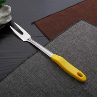 kitchen utensils stainless steel cooking fork with plastic handle
