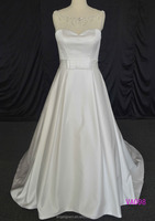 Popular Stain Wedding Dress Beaded See Through Dress Bridal Wedding Dress
