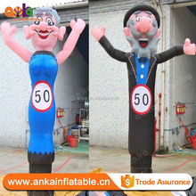Custom 2.5m H inflatable old people air dancer costume for sale