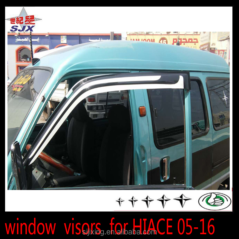 Customize window visor for hiace05-16 back/white color export foreign car door visors for hiace Whole vehicle accessories