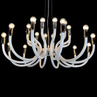 Chandelier candle pendant ceiling lamp modern style loft vintage hot sale with 24 lights