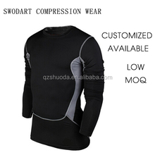 2016 swodart compression <strong>sports</strong> top long sleeve winter training wear runing suit top wearOEM wholesale