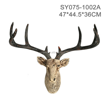 Resin Animal Trophy head animal skull wall sculpture wall hanging decoration