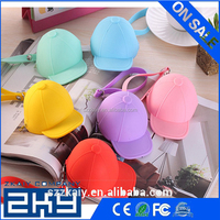 Cute cartoon candy-colored silicone baseball cap coin bags mini hats key case silicone female female purse