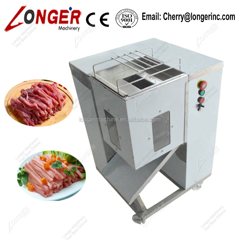 Cooked Chicken Meat Cube Cutter Machine Meat Sliced Machine
