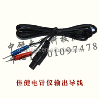 Electrodes cable/Electro acupuncture instrument output wire/Can be equipped with clip patch
