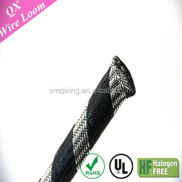 High Density PET Flexo Expandable Braided Mesh Pipe Cable Sleeve