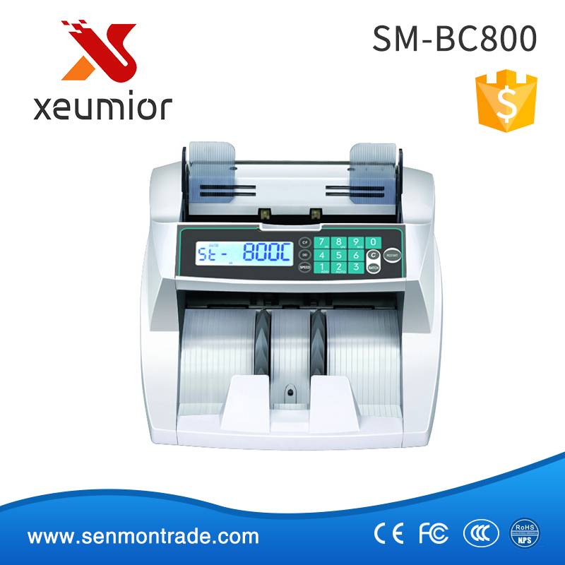 Vertical Cash Counting Machine UV+MG+IR+DD Detection Bank Mixed Bill Counter Money Counter