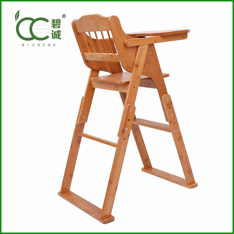 High Quality Dining Chair Baby High Chair Bamboo Adult Baby Furniture Wholesale