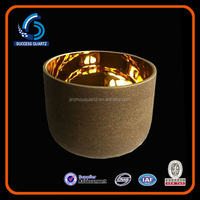 7 metal singing bowls,24K gold crystal singing bowl