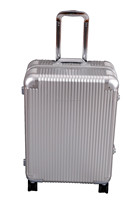 New material aluminum trolley luggage travel case aluminum trolley case