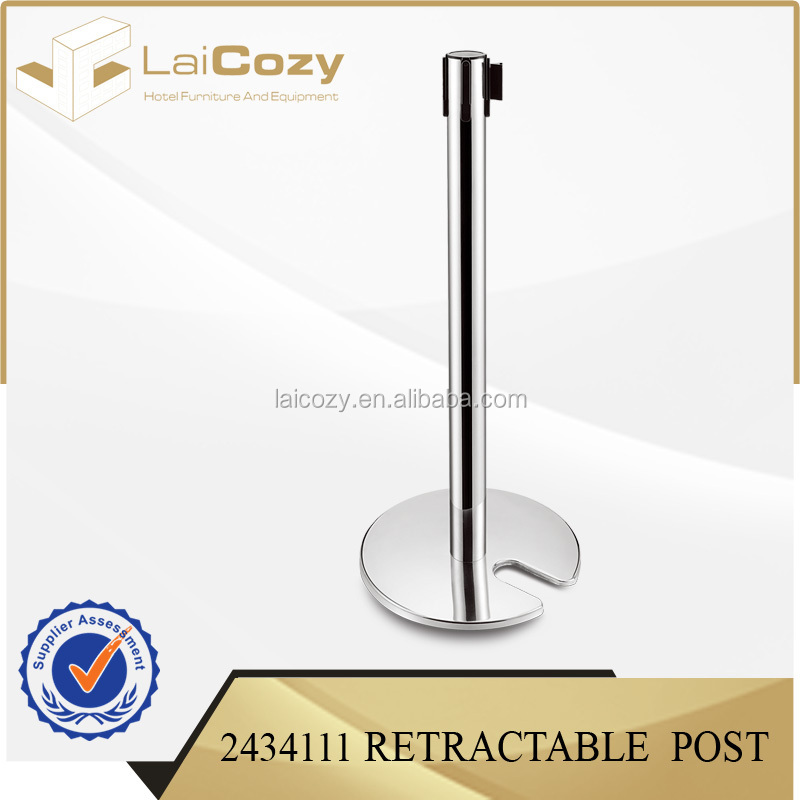 Stackable Retractable belt barrier handrail post stanchion barrier stand polishing stainless steel besting selling
