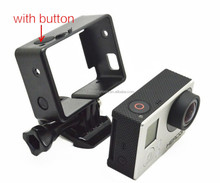 Fixed Side Border Standard Protective Frame with Button Assorted Mounting Hardware for GoPros Hero4/3+/3
