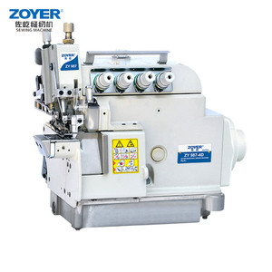 ZY988-4D Zoyer 4-thread with variable top feed Direct Drive Overlock Industrial Sewing Machine