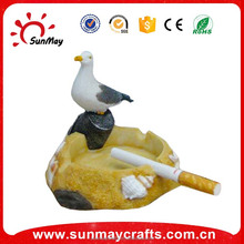 Wholesale custom resin seagulls ashtray souvenir for sale