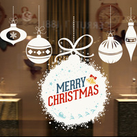 Syene 3d art vinyl quote merry christmas and happy new year adhesive glass decal window sticker holiday door decorations