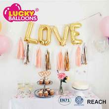 Wholesale 100Pcs Wedding Party Tissue Tassel Foil Paper Garland Balloon Tassel