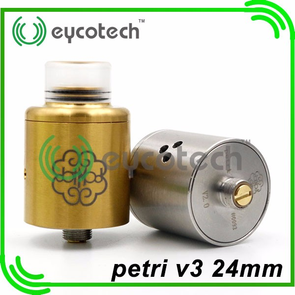 china top selling vape rda petri v3 24mm kennedy 24 rda 1:1 clone with high quility