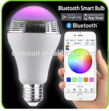 Shenzhen Supplier Hot Selling Bluetooth Speaker LED Lamp E27 Bulb / Led Light with Remote For iOS Android