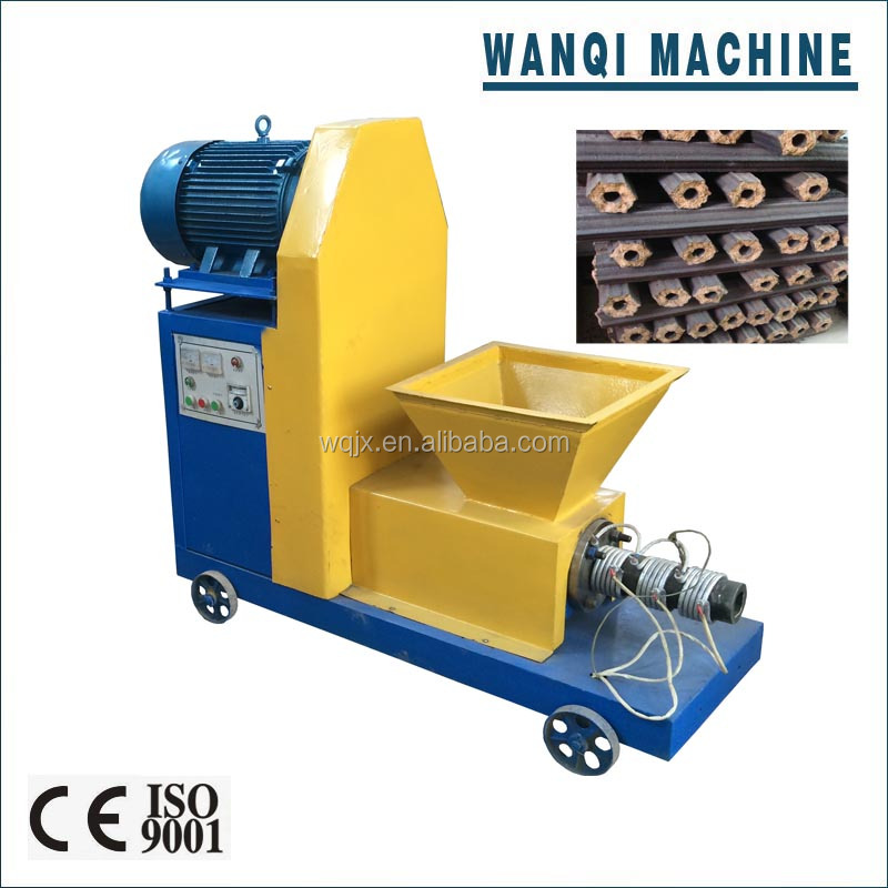 wood charcoal making machine, biomass charcoal briquette machine, can use sawdust and agricultural waste to make charcoal.