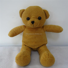 30cm High Yellow Soft Plush Teddy Bear Toy For Children
