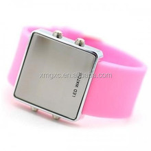 as customize fashion silicone watch led touch screen watch
