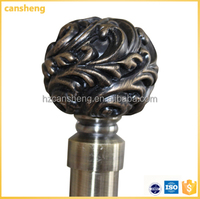 Swivel resign window curtain rod end caps for bronze pipe