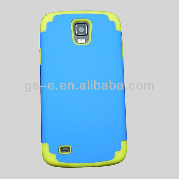 Hard pc case for samsung i9295 galaxy s4 active case blue and yellow hot