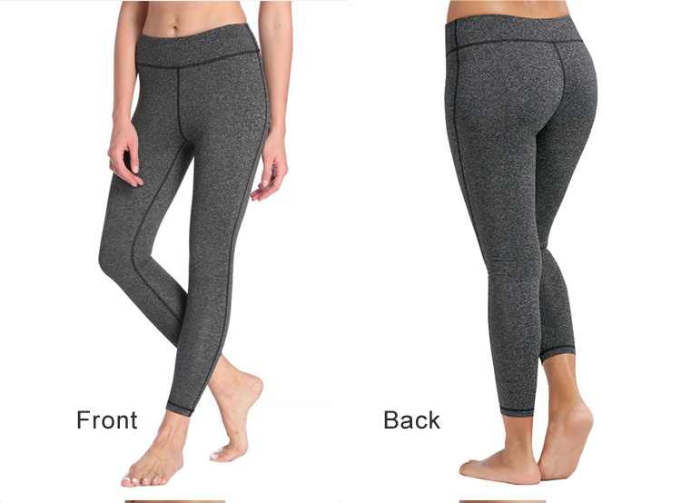 Autumn and Winter Hot Selling Elasticity Tight High waist Breathable Thin Nine sexy woman yoga pants leggings with phone pockets