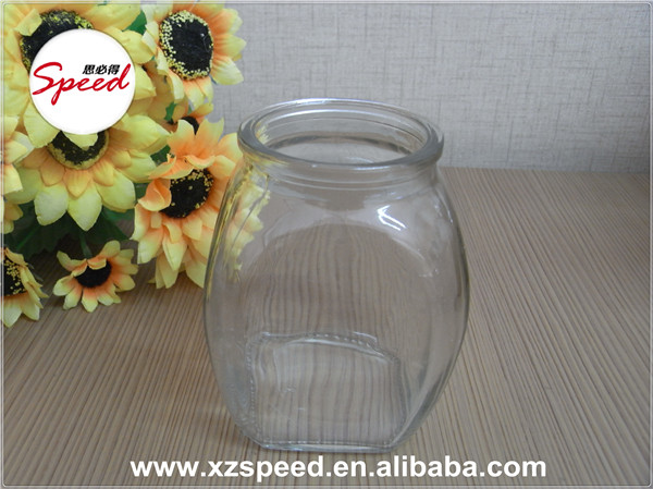 250ml Clear Square Oval Glass Jar for Jam Pickle Spice