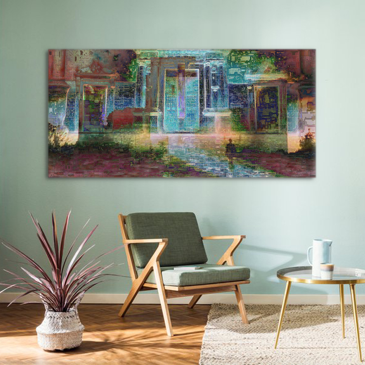 5 Panels Framed Abstract Wall Art Extra-larg Impressionist Art ...